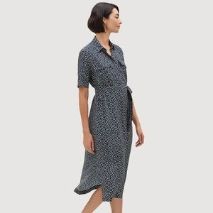 NWT Lafayette 148 NY Short Sleeve Silk Shirtdress